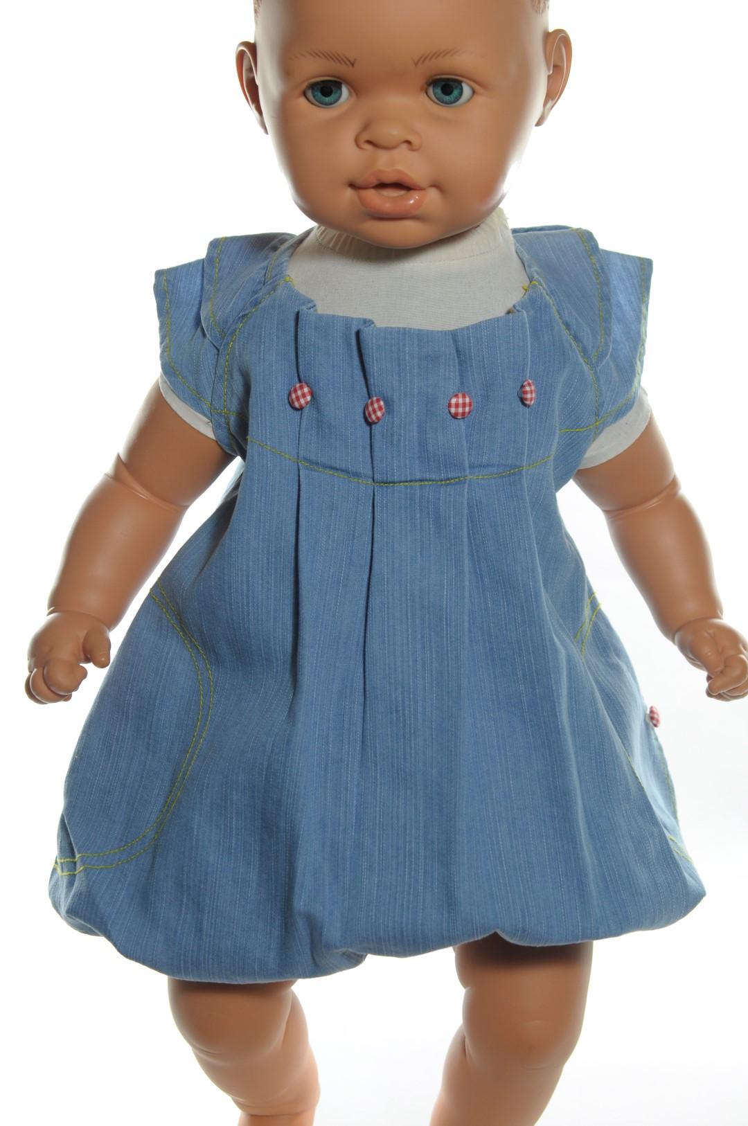 Detské riflové šaty
