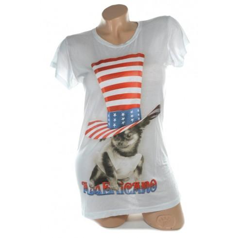 Dámske tričko - pes s cilindrom, C-2-2372