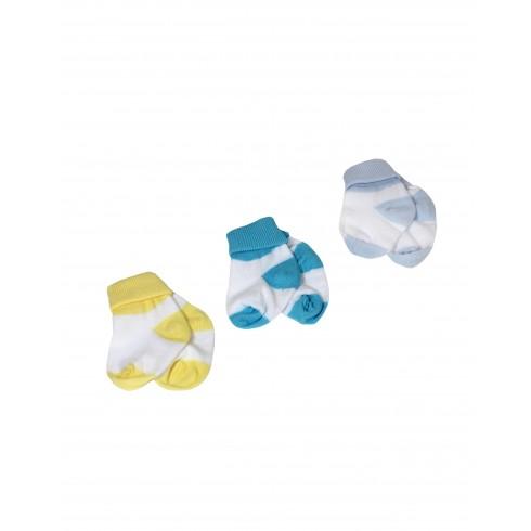 Kojenecké ponožky 3ks - far. špička a päta