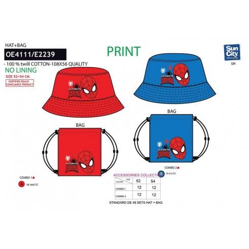Chlapčenský klobúk + taška Spiderman