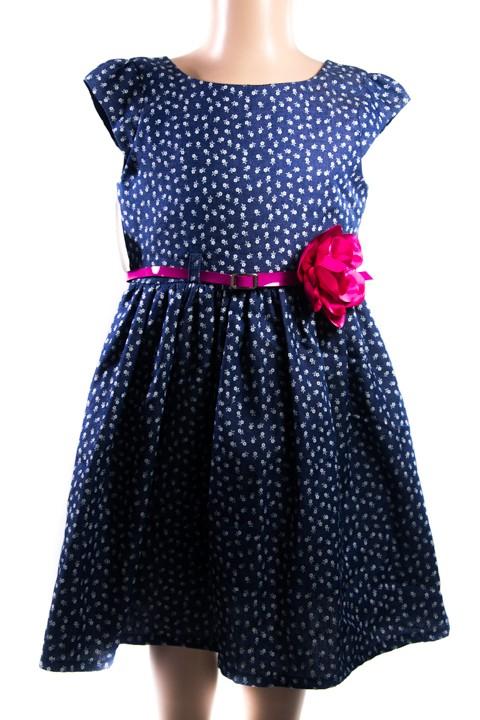 b096ff400828 Detské riflové šaty - kvety - Šaty - Detské oblečenie - Oblečenie a móda