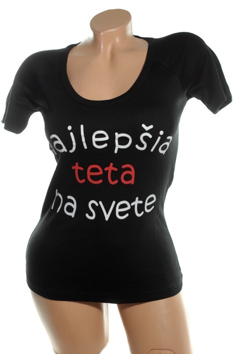 10e0cd0b3726 Dámske tričko - Najlepšia teta M - XL - Tričká - Dámske oblečenie ...