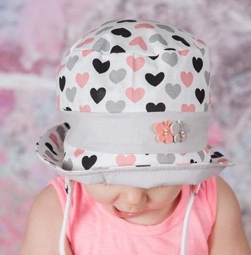 afc93ea73 Kojenecký klobúk - srdiečka, TAJEMNICA - Čiapky, šiltovky, klobúky a ...