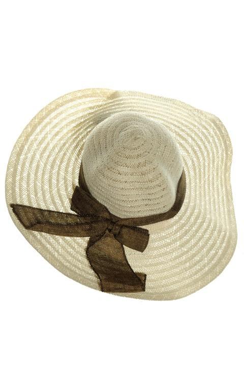015390671 Dámsky klobúk - mašla + silonové ponožky zdarma - Klobúky - Čiapky ...