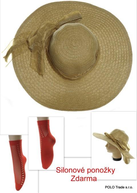 1e6192dde Dámsky klobúk veľký- mašľa + ponožky zdarma - Klobúky - Čiapky ...