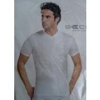Pánske jednofarebné tričko - V výstrih