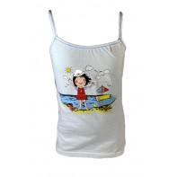 Detské tielko námornické dievča na pláži