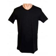 Pánske jednofarebné tričko V-výstrih FUTKU