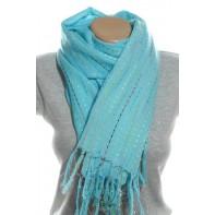 Dámsky šál - farebné pletenie