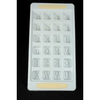 Plastová forma na ľad abeceda
