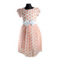 Dievčenské šaty - bodka veľká