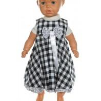 Baby šaty - kockované s mašlou