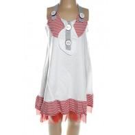 Dievčenské šaty - námornícke