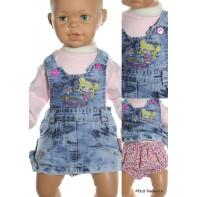 Šaty detské - riflové s nohavičkami
