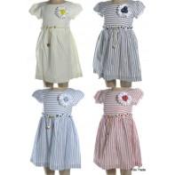 Detské šaty - pásik s opaskom