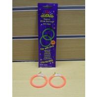 Svietiace náušnice krúžky, C-4-44