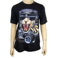 Pánske tričko- mačka na motorke