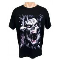 Tričko Zombie - kričiaca lebka