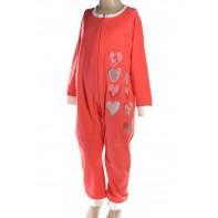 Pyžamo detské - overal srdce 98-110