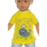 Detské tričko - veľryba kamienky crystal deluxe kratky rukav
