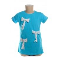 Detské tričko - s mašľami 3D kratky rukav