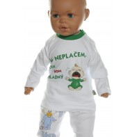 Detské tričko -Neplačem, len som hladný -zelená