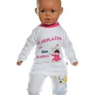 Detské tričko - Neplačem , som hladný - ružová