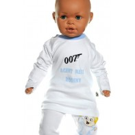 Detské tričko - Agent 007 svetlomodrá