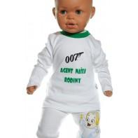 Detské tričko - Agent 007, zelená