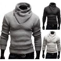 Pánsky teplý sveter so zipsom