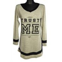 Dámsky predĺžený sveter - Trust me