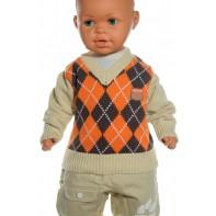 Detský sveter - káro