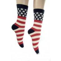 Ponožky- hrubé pásy stars stripes