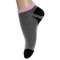 Kotníkové ponožky - biele a šedé