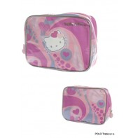 Kozmetická taštička Hello Kitty, motív srdiečka