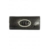 Spoločenská kabelka s krištáľovým ovalným zdobením