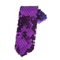 Kravata s flitrami tv. fialová