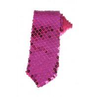 Kravata s flitrami ružová