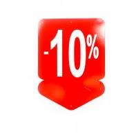 Reklamný pútač - šípka 10 % (10 ks)