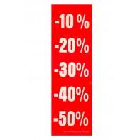 Reklamný pútač -10% -20% -30% -40% -50%