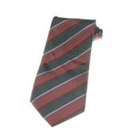 Kravata tmavočervená s pásmi