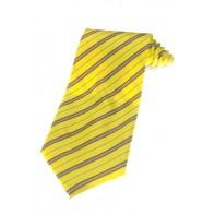 Kravata žltá s pásmi