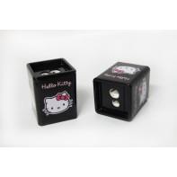 Strúhadlo čierne dvojité Hello Kitty