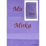 Osuška s menom Mirka 70*130 cm