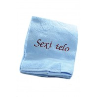 Osuška Sexi telo - modrá 70x140cm