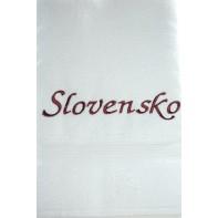 Osuška Slovensko - biela svk slovakia 70*140 cm
