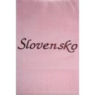 Osuška Slovensko - ružová svk slovakia 70*140 cm