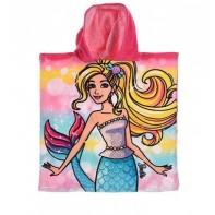 Detské pončo Barbie vlasy v cope