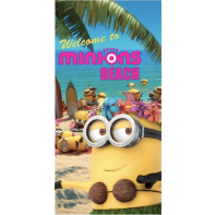 Osuška MINIONS Welcome To Beach 70x140cm