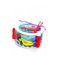 Detská bubon s paličkami Racing Car, 21cm